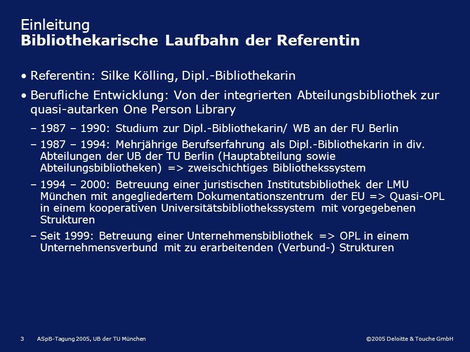 Einleitung Bibliothekarische Laufbahn der Referentin