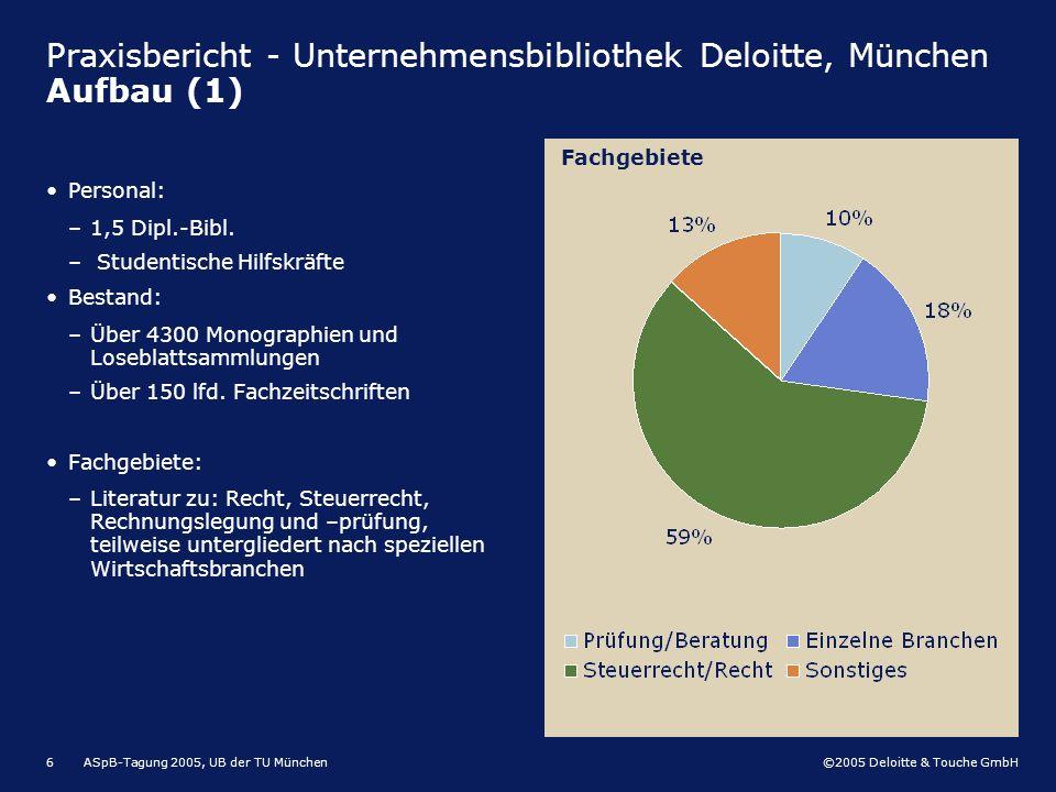 Praxisbericht - Unternehmensbibliothek Deloitte, München Aufbau (1)
