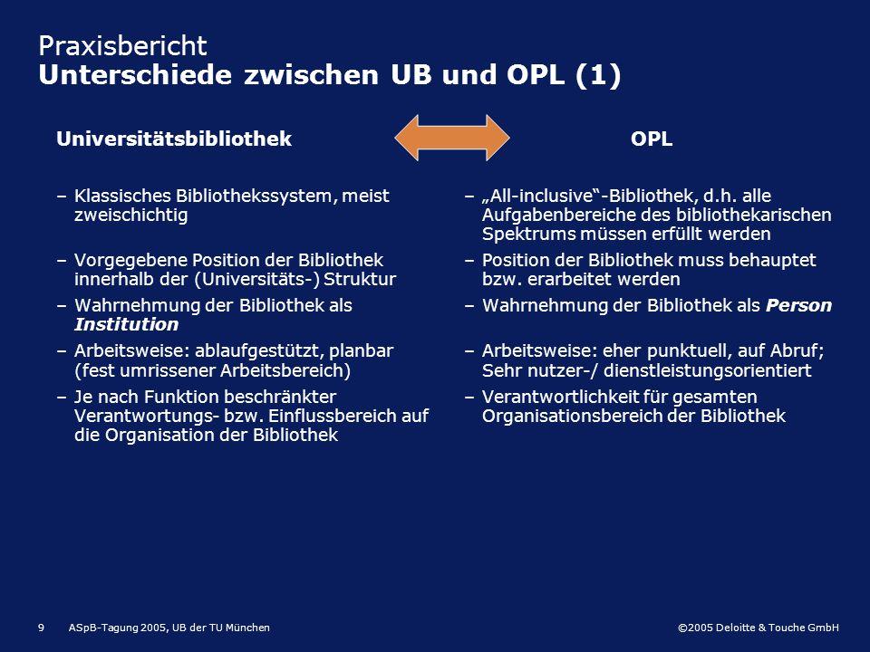 Praxisbericht Unterschiede zwischen UB und OPL (1)