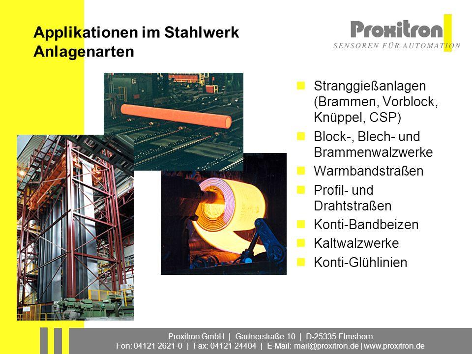 Applikationen im Stahlwerk Anlagenarten