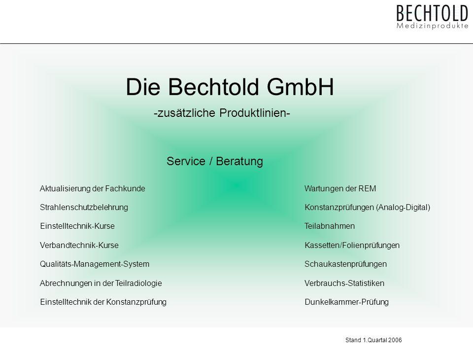 Die Bechtold GmbH -zusätzliche Produktlinien- Service / Beratung