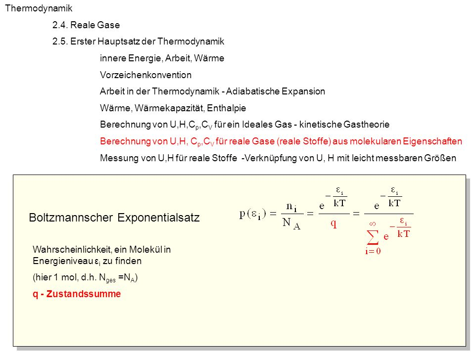 Boltzmannscher Exponentialsatz