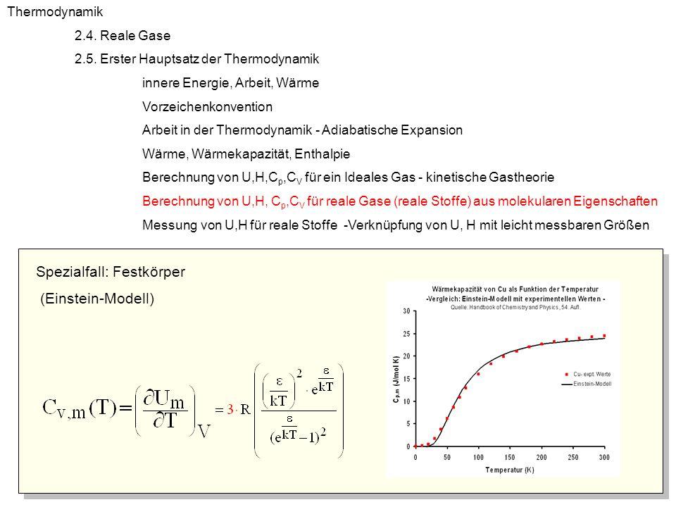 Spezialfall: Festkörper (Einstein-Modell)