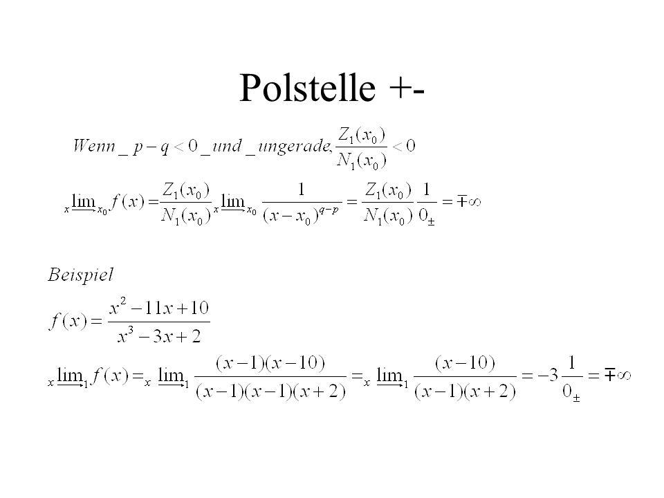 Polstelle +-