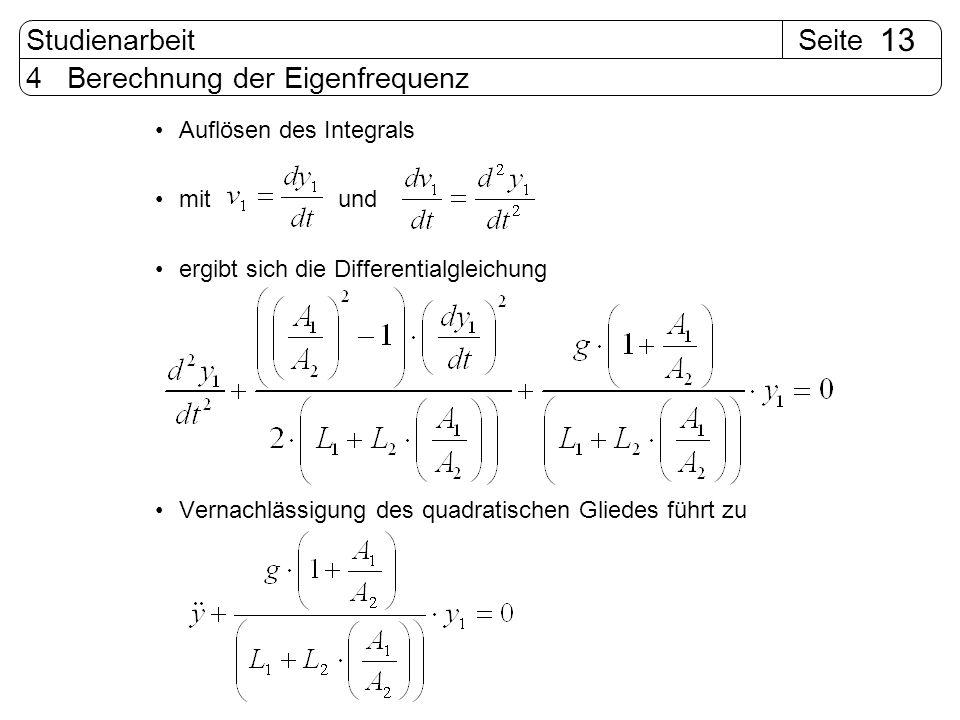 4 Berechnung der Eigenfrequenz