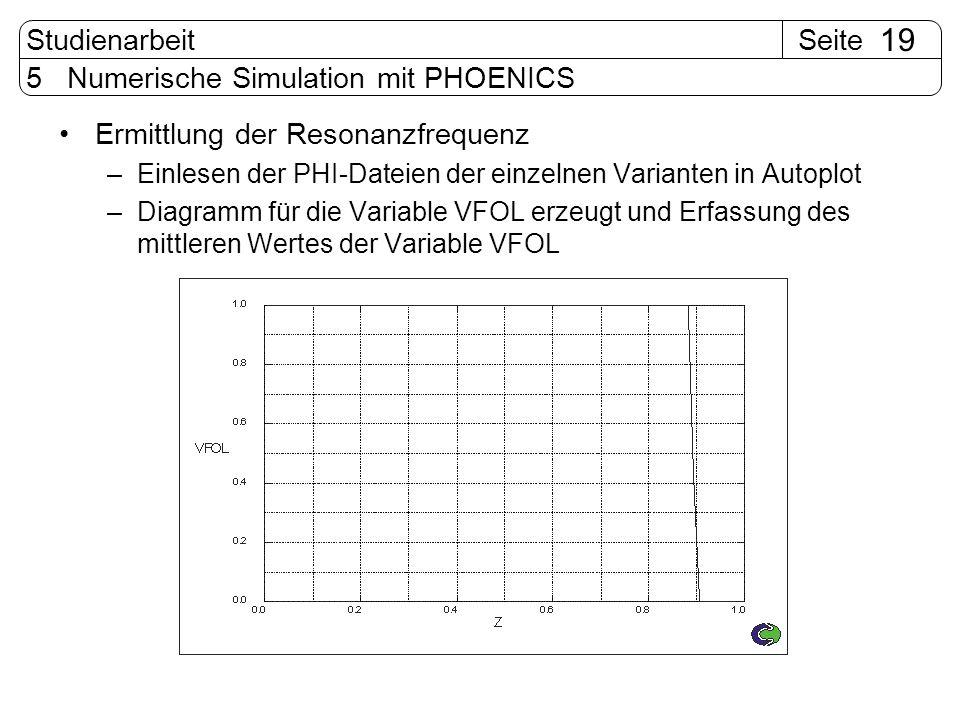 5 Numerische Simulation mit PHOENICS