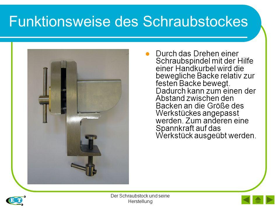 Teile des Schraubstockes