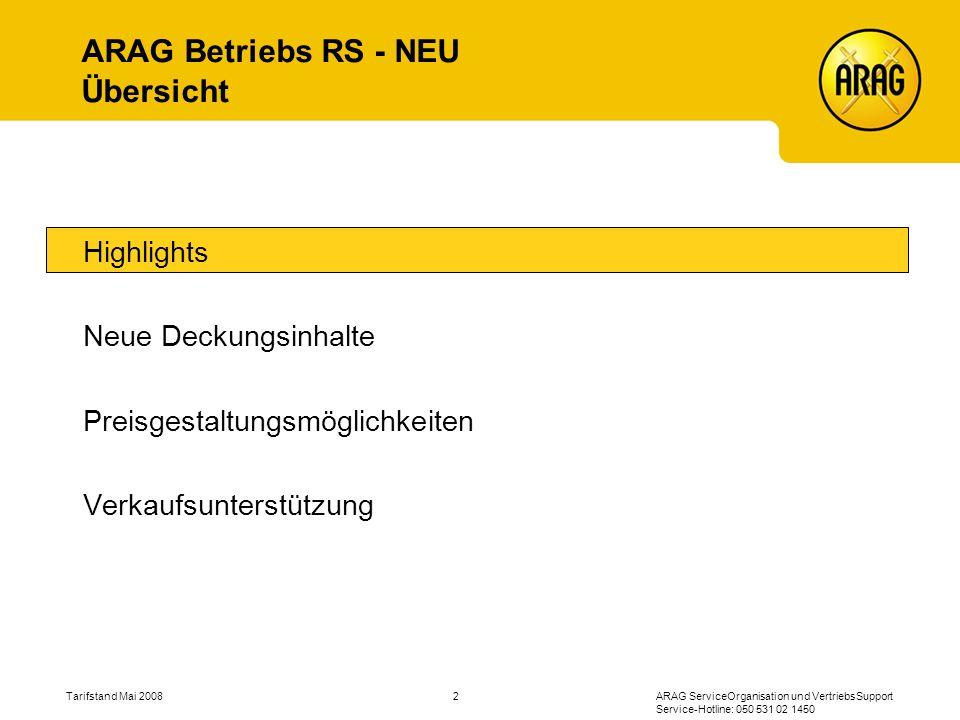 ARAG Betriebs RS - NEU Übersicht