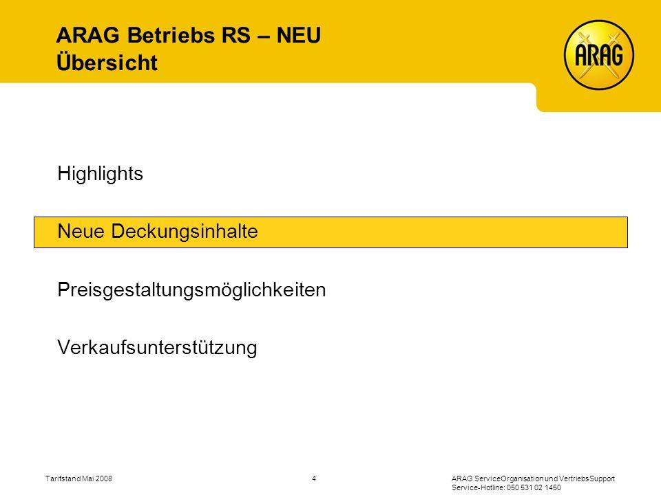 ARAG Betriebs RS – NEU Übersicht