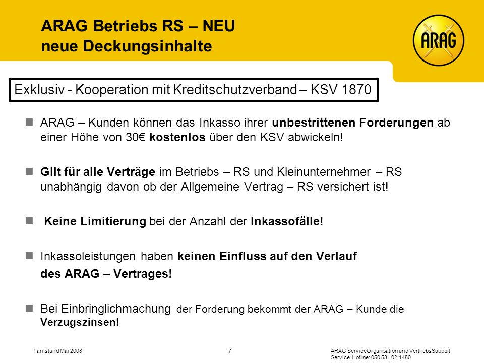 ARAG Betriebs RS – NEU neue Deckungsinhalte