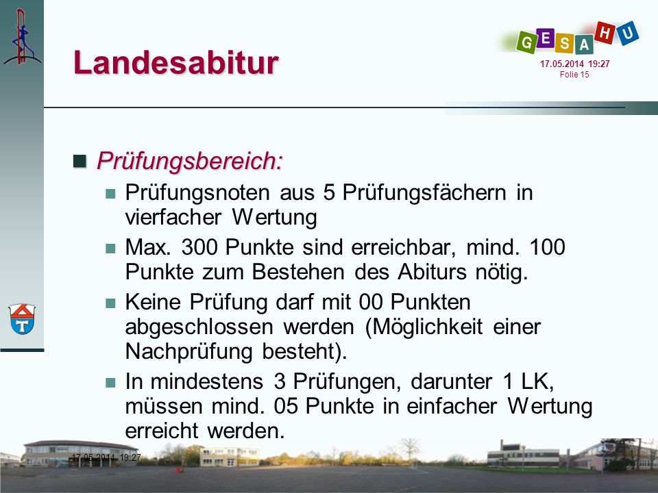 Landesabitur Prüfungsbereich:
