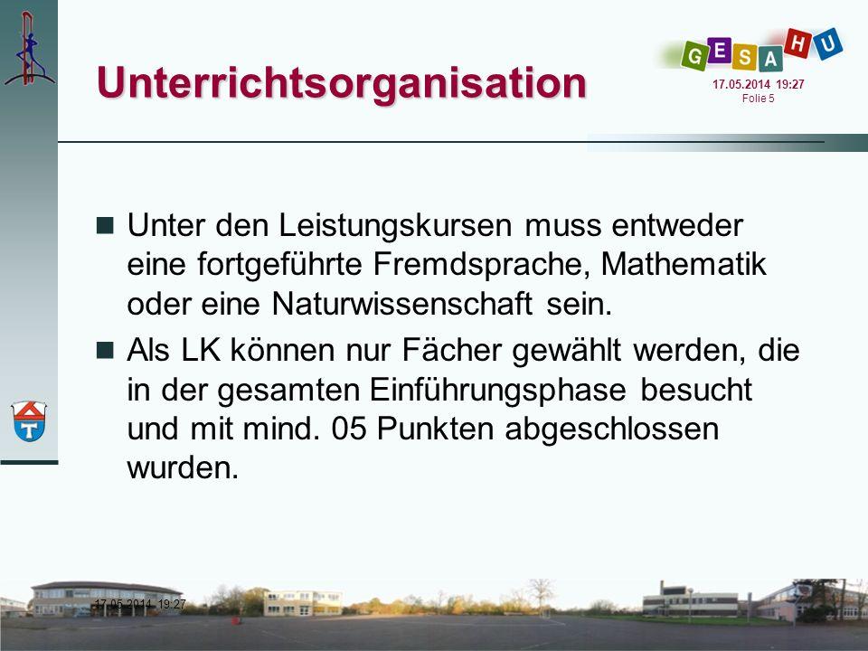 Unterrichtsorganisation