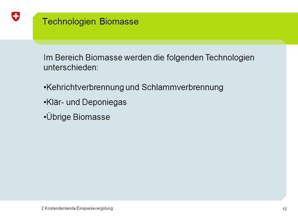 Technologien Biomasse
