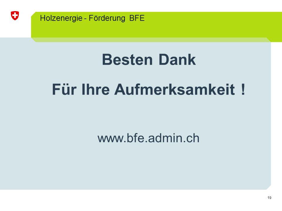 Holzenergie - Förderung BFE