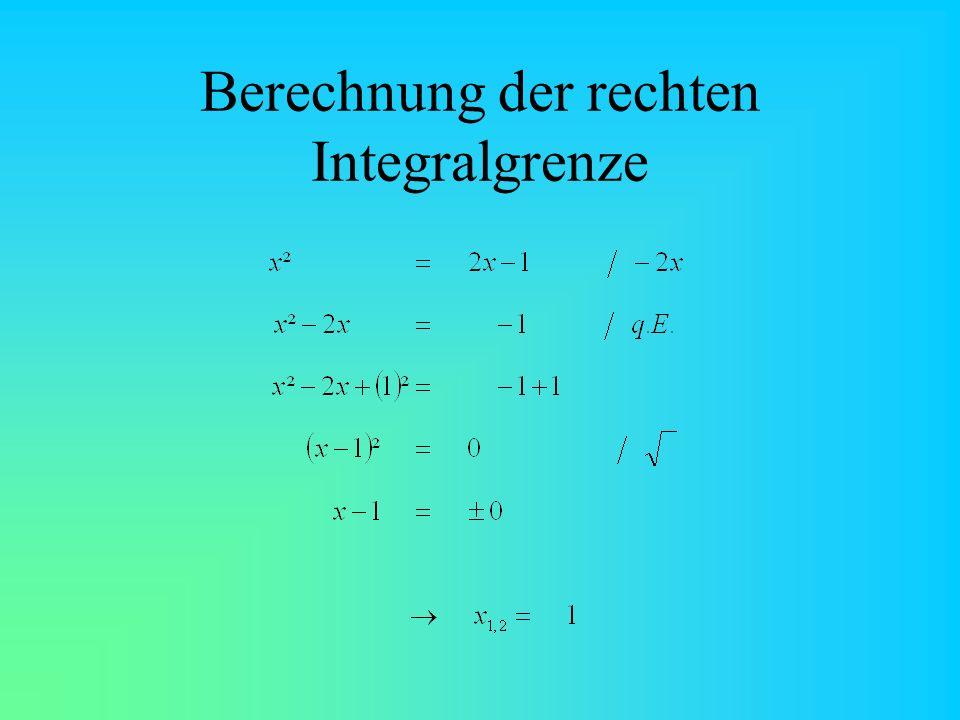 Berechnung der rechten Integralgrenze