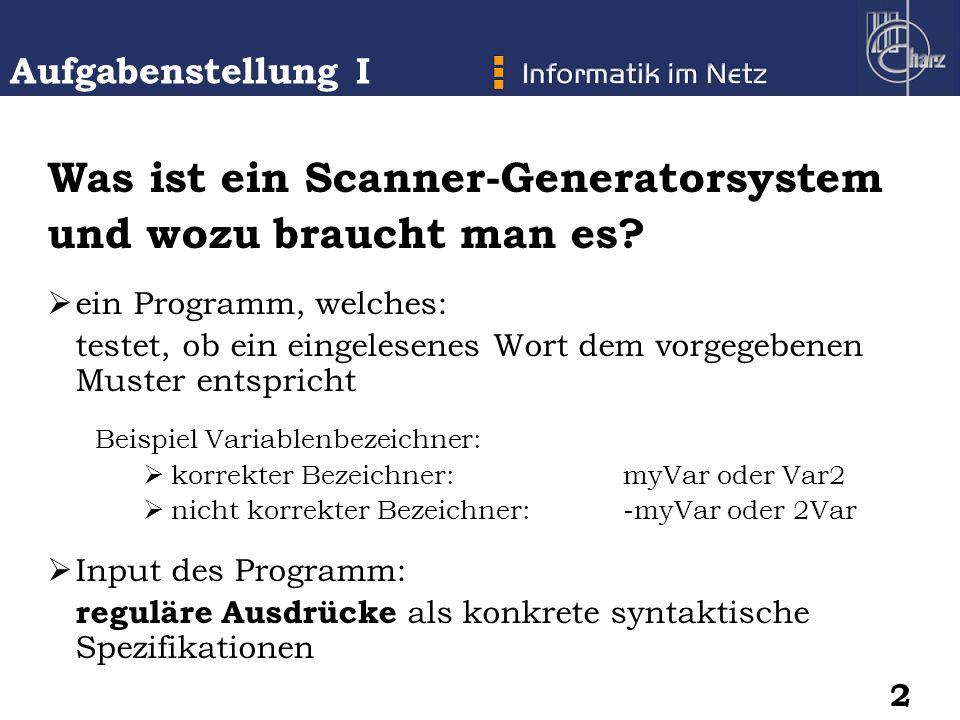 Was ist ein Scanner-Generatorsystem und wozu braucht man es