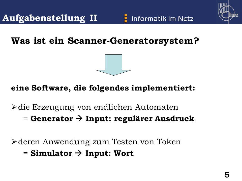 Was ist ein Scanner-Generatorsystem