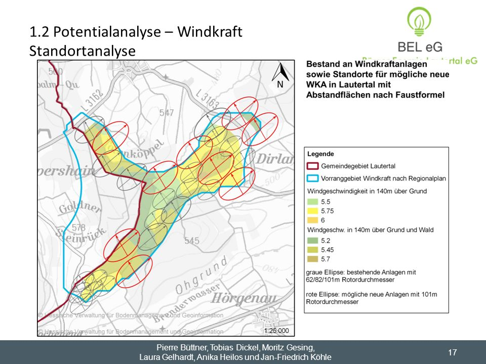 1.2 Potentialanalyse – Windkraft Standortanalyse