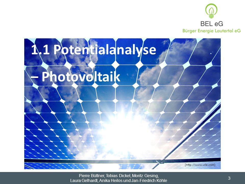 1.1 Potentialanalyse – Photovoltaik