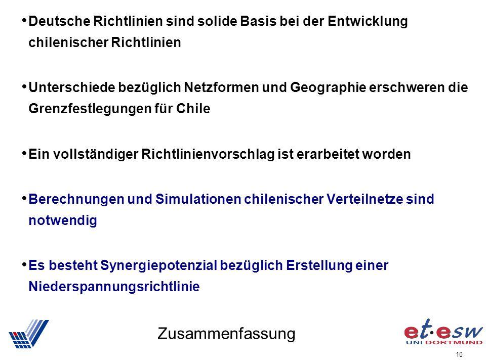 Deutsche Richtlinien sind solide Basis bei der Entwicklung chilenischer Richtlinien