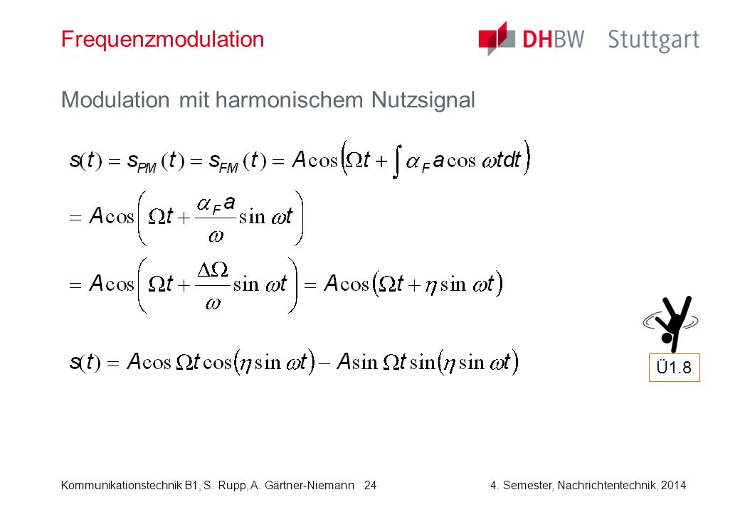 Modulation mit harmonischem Nutzsignal