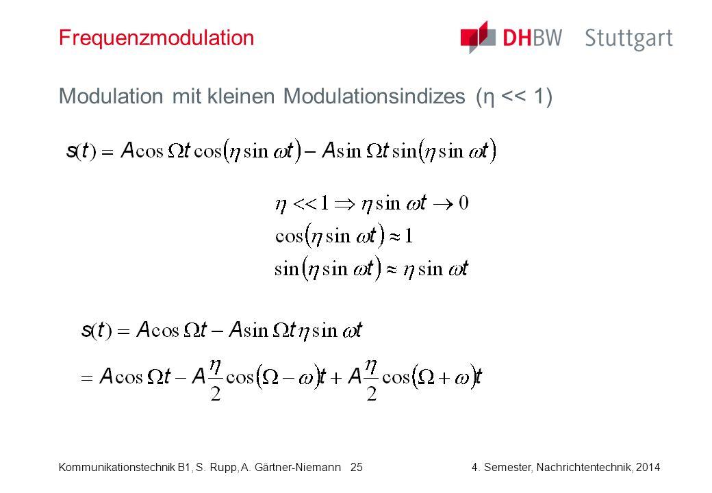 Frequenzmodulation Modulation mit kleinen Modulationsindizes (η << 1)