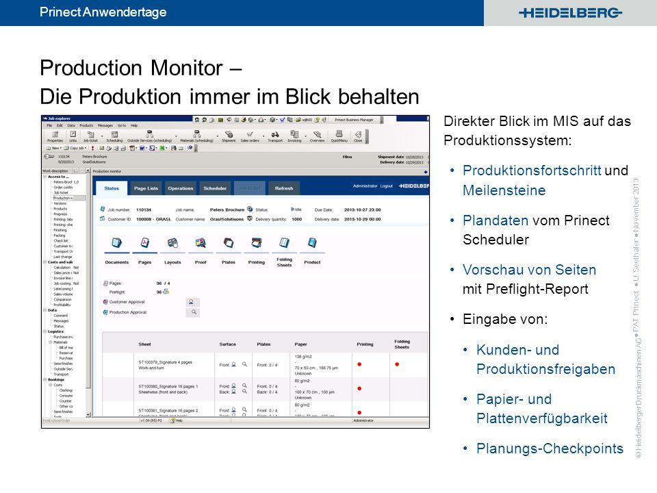 Production Monitor – Die Produktion immer im Blick behalten