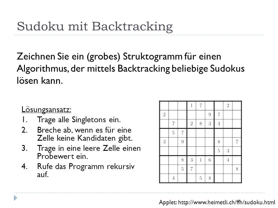 Sudoku mit Backtracking