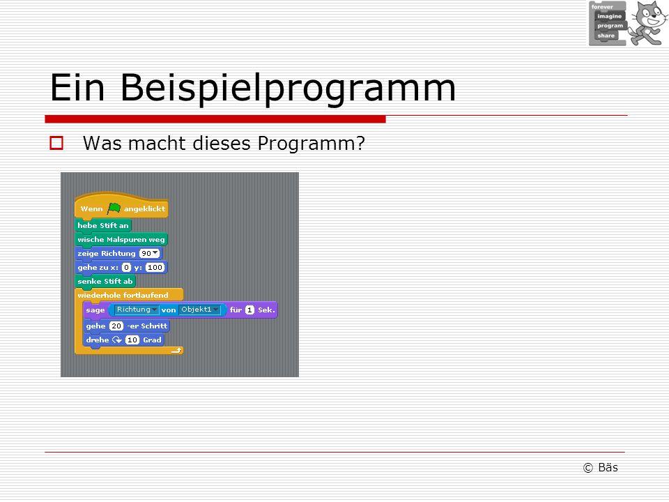 Ein Beispielprogramm Was macht dieses Programm