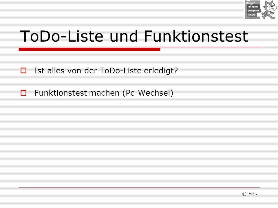 ToDo-Liste und Funktionstest