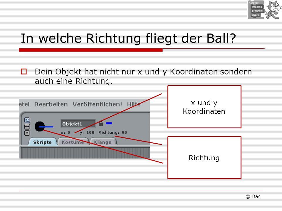 In welche Richtung fliegt der Ball