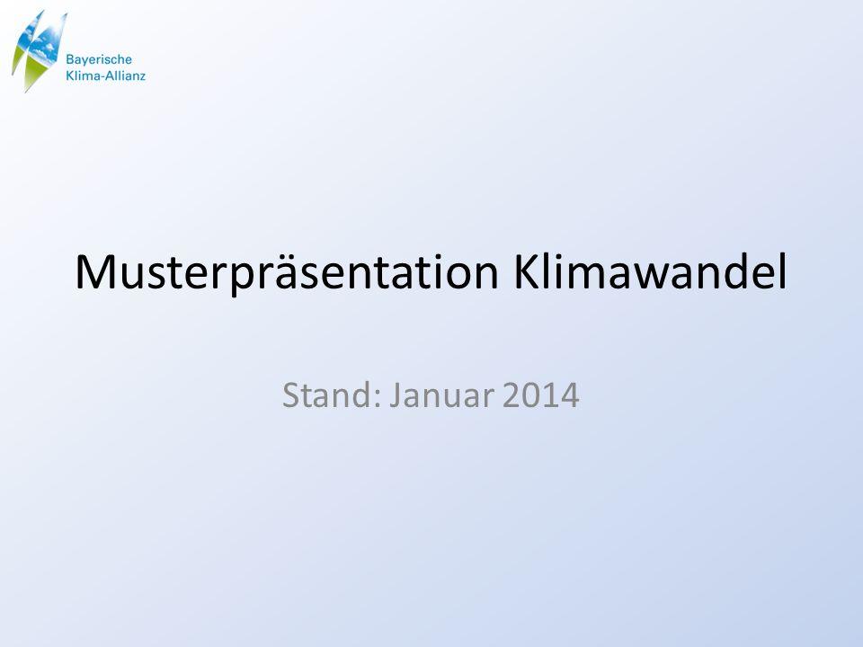 Musterpräsentation Klimawandel