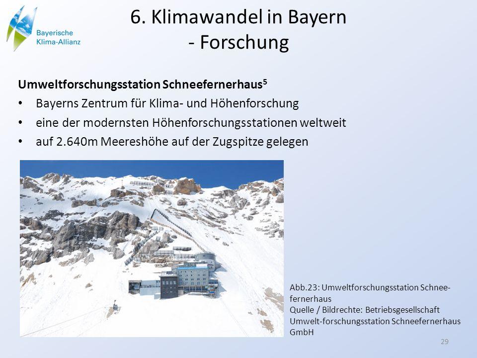 6. Klimawandel in Bayern - Forschung