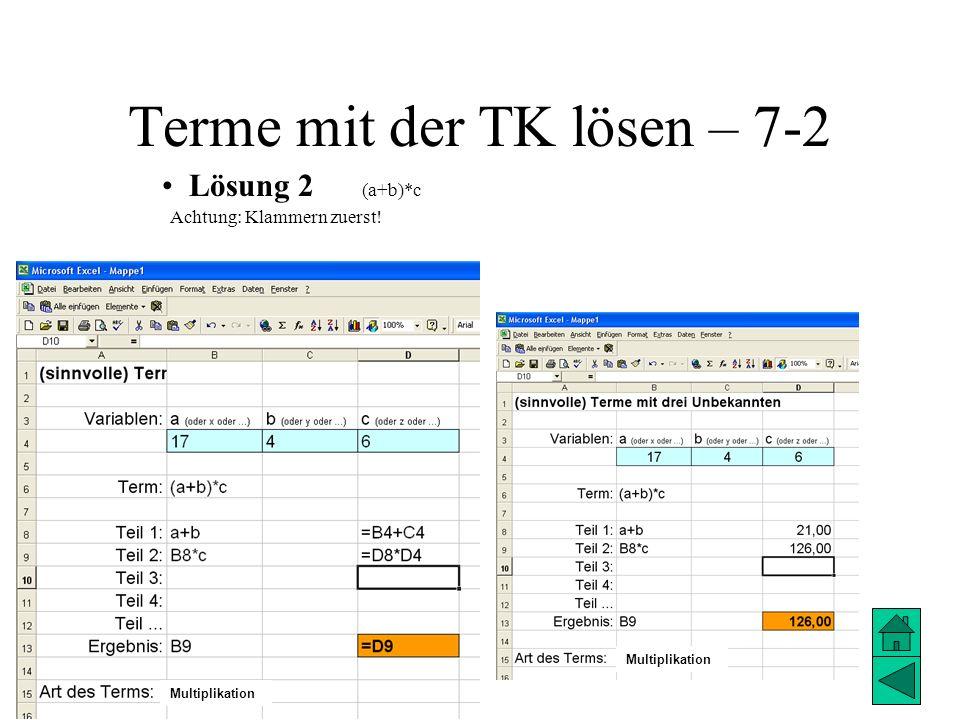 Terme mit der TK lösen – 7-2