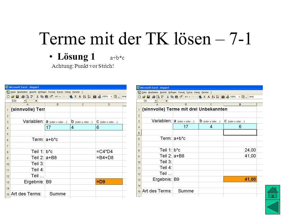 Terme mit der TK lösen – 7-1