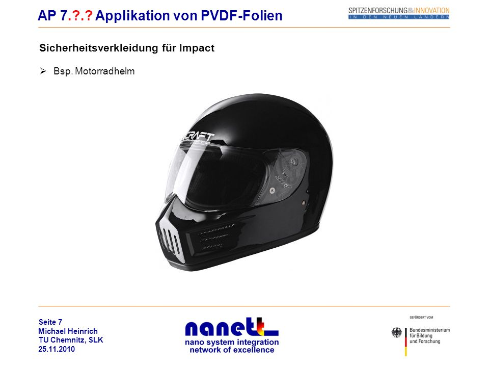 AP 7. . Applikation von PVDF-Folien