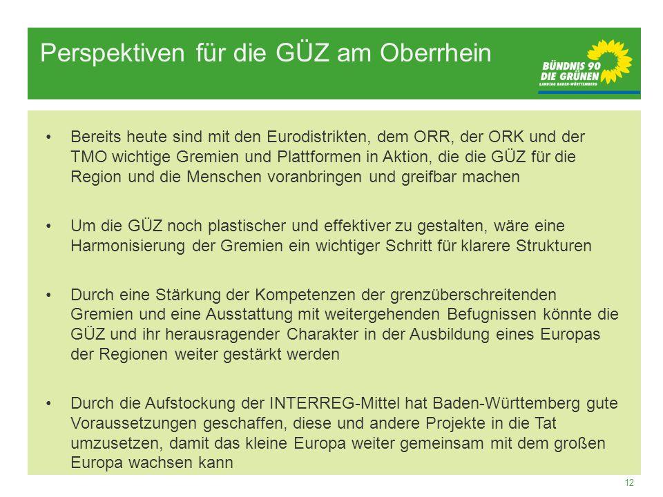 Perspektiven für die GÜZ am Oberrhein