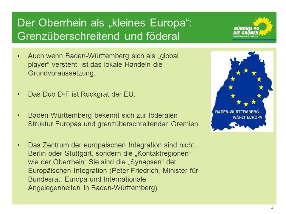 """Der Oberrhein als """"kleines Europa : Grenzüberschreitend und föderal"""