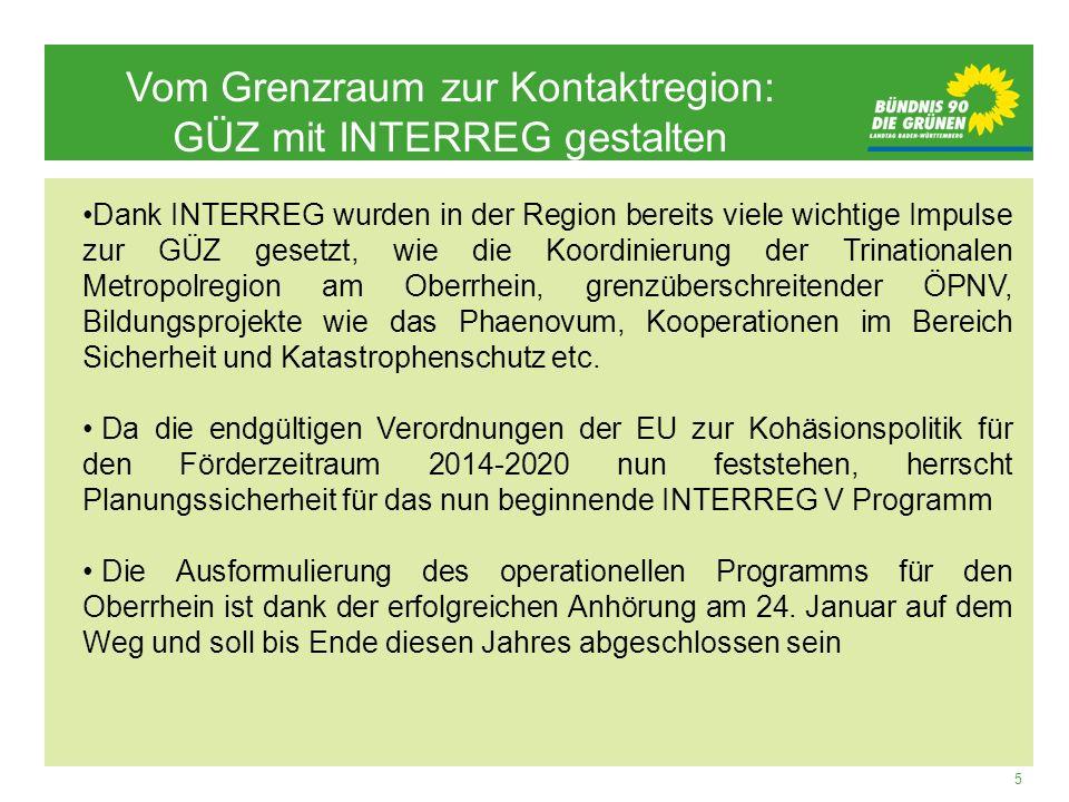 Vom Grenzraum zur Kontaktregion: GÜZ mit INTERREG gestalten