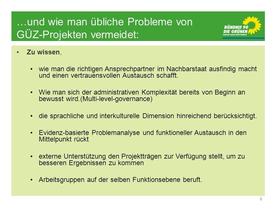 …und wie man übliche Probleme von GÜZ-Projekten vermeidet: