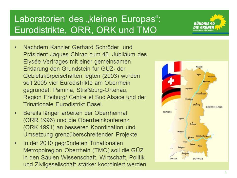 """Laboratorien des """"kleinen Europas : Eurodistrikte, ORR, ORK und TMO"""