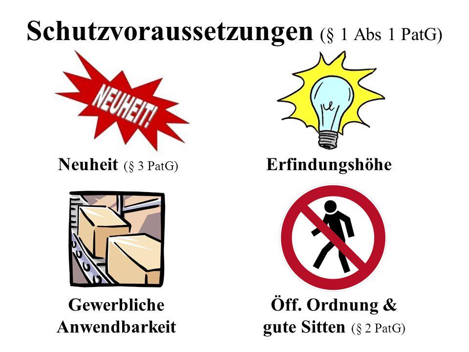 Schutzvoraussetzungen (§ 1 Abs 1 PatG)