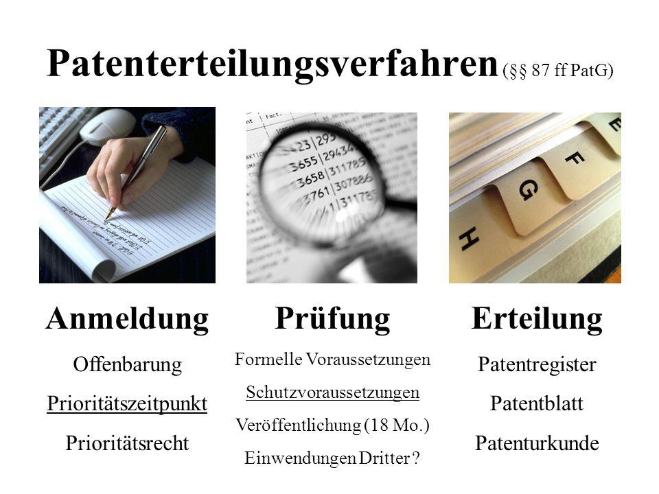Patenterteilungsverfahren (§§ 87 ff PatG)