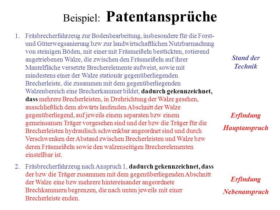 Beispiel: Patentansprüche
