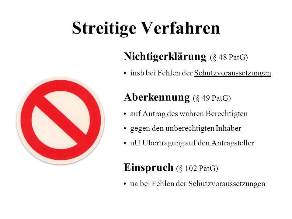 Streitige Verfahren Nichtigerklärung (§ 48 PatG)