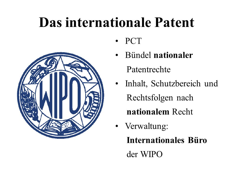 Das internationale Patent