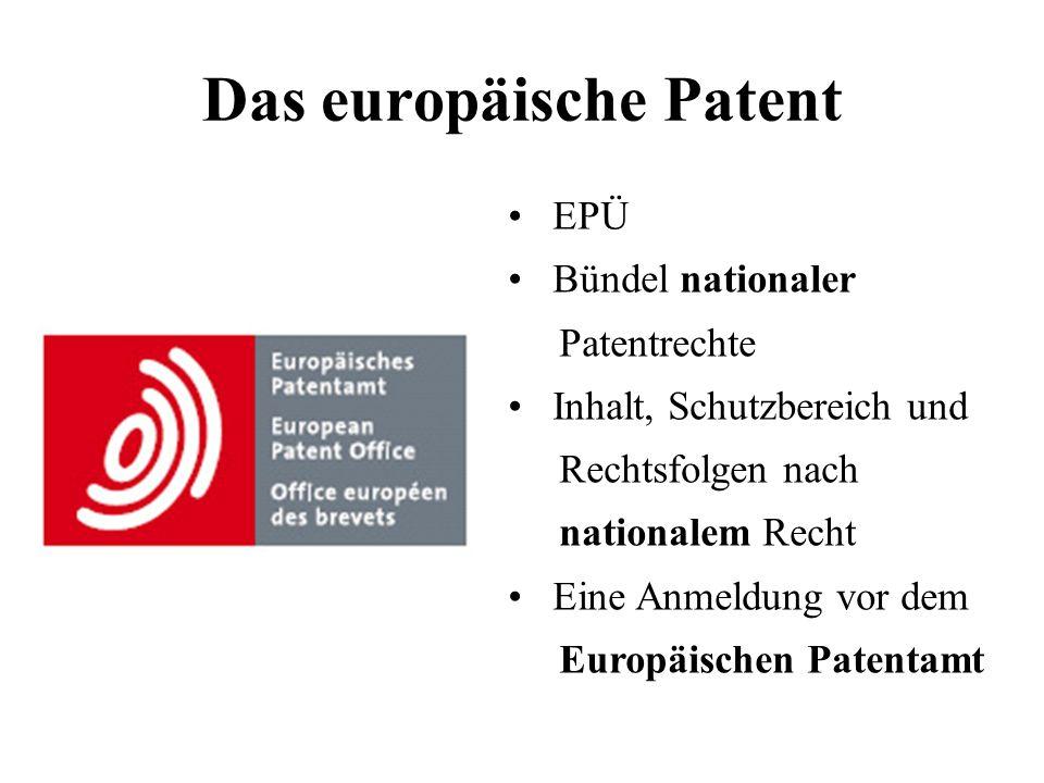 Das europäische Patent