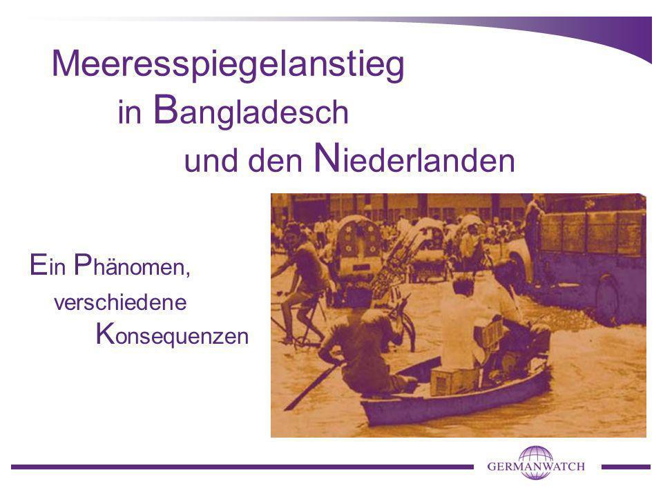 Meeresspiegelanstieg in Bangladesch und den Niederlanden