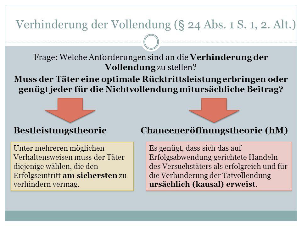Verhinderung der Vollendung (§ 24 Abs. 1 S. 1, 2. Alt.)