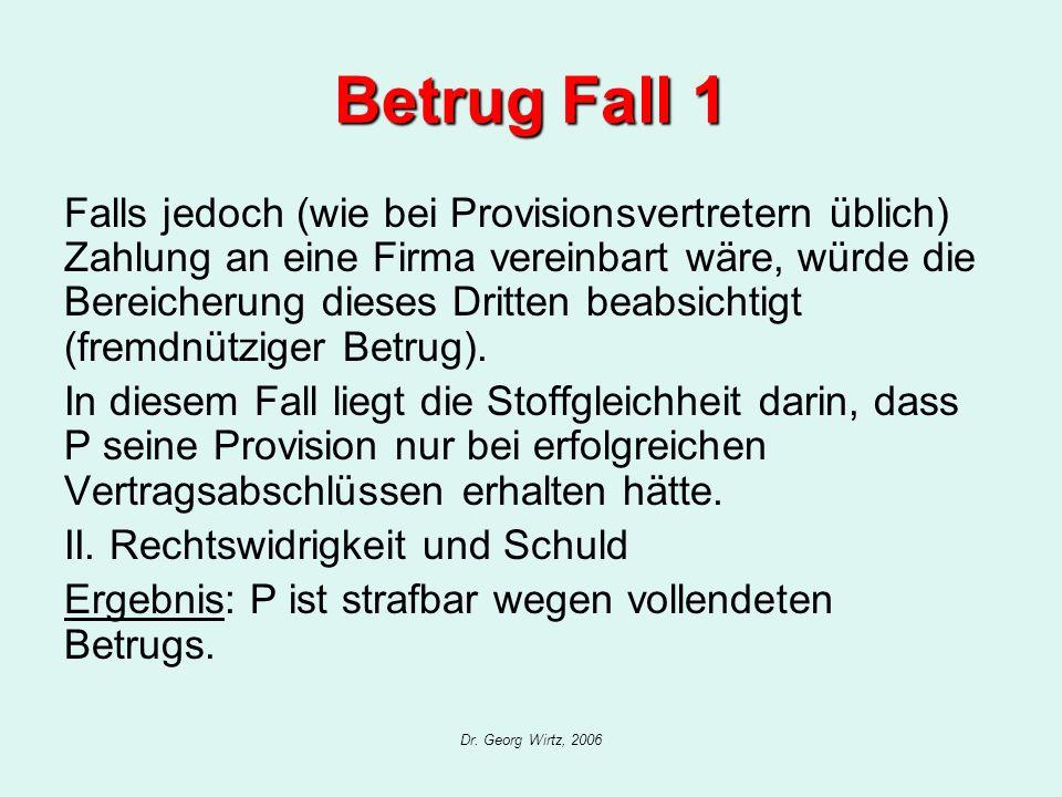 Betrug Fall 1